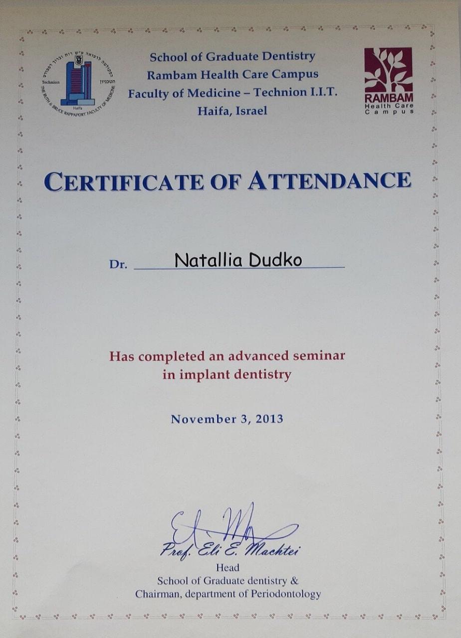 Сертификат Дудко Н.А.