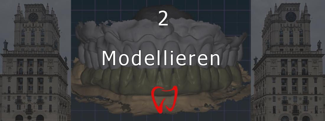 Die zweite Stufe der Zahnimplantation - Modellierung